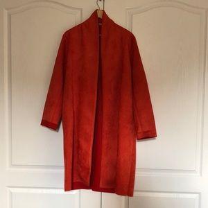 XL Long sleeved red cardigan Zara-not worn before